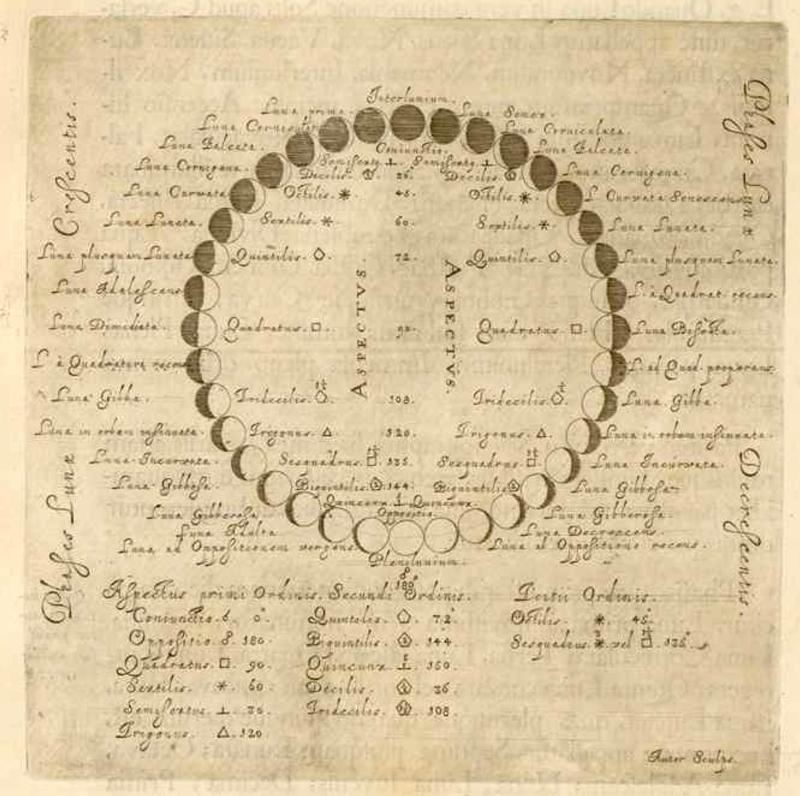 Johannis Hevelii Selenographia - moonphases - 241