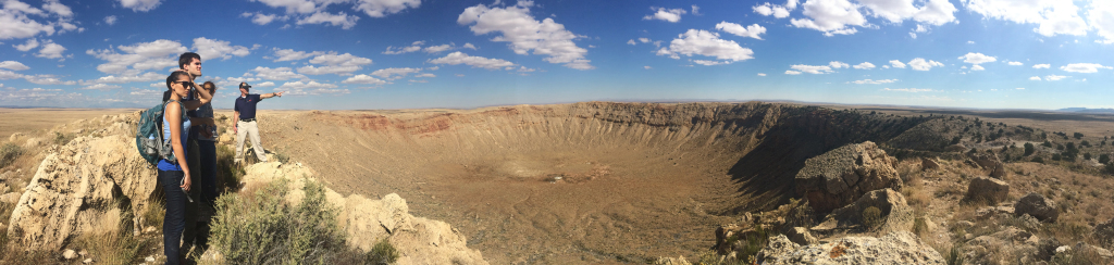 Nerd Brigade at Meteor Crater