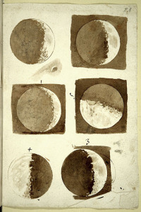 Galileo's notebook drawings