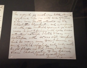 Letter from Cannon to Seares