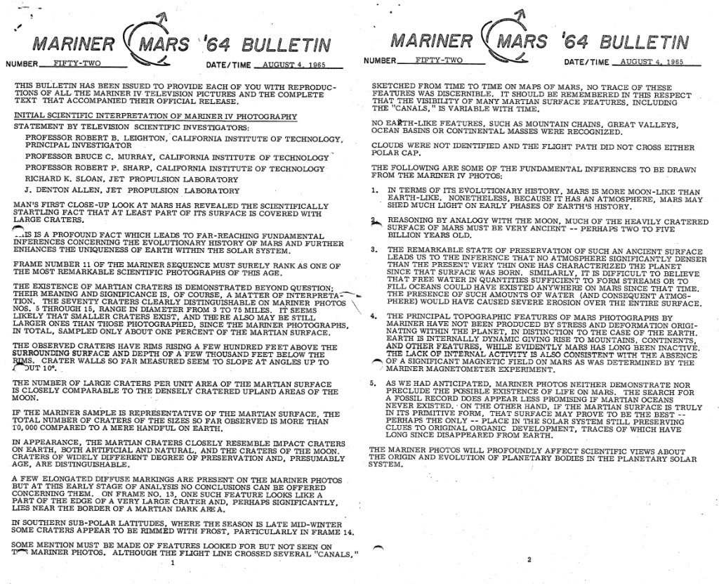 Mariner_Mars_'64_Bulletin_No_52_Aug_4_1965-1-2